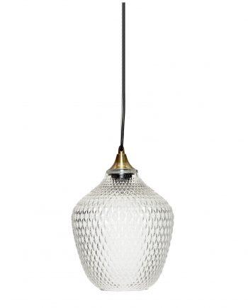 950102 350x435 - Taklampe - Klart glass og messing