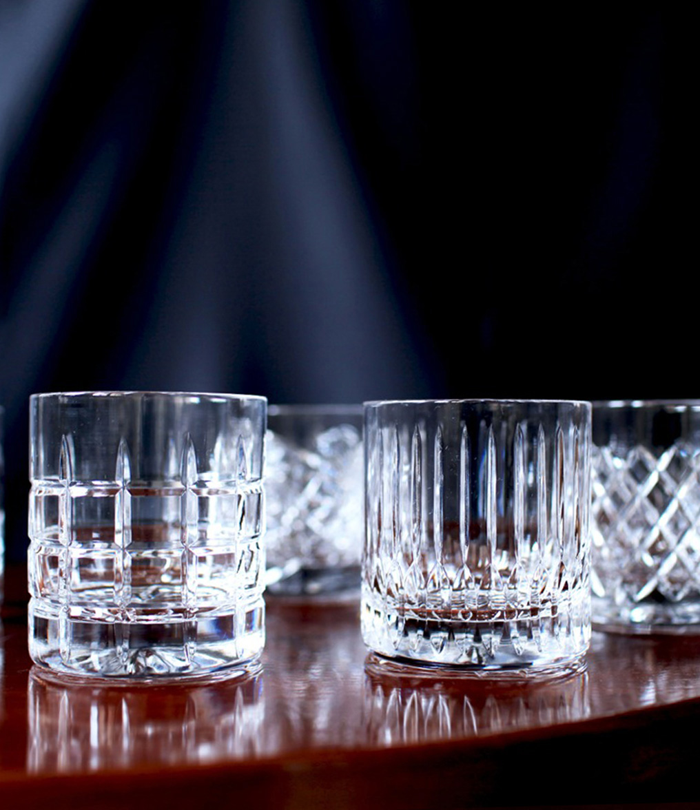 """newport jfk tumbler 4 - Krystallglass - """"whiskey on the rocks"""""""