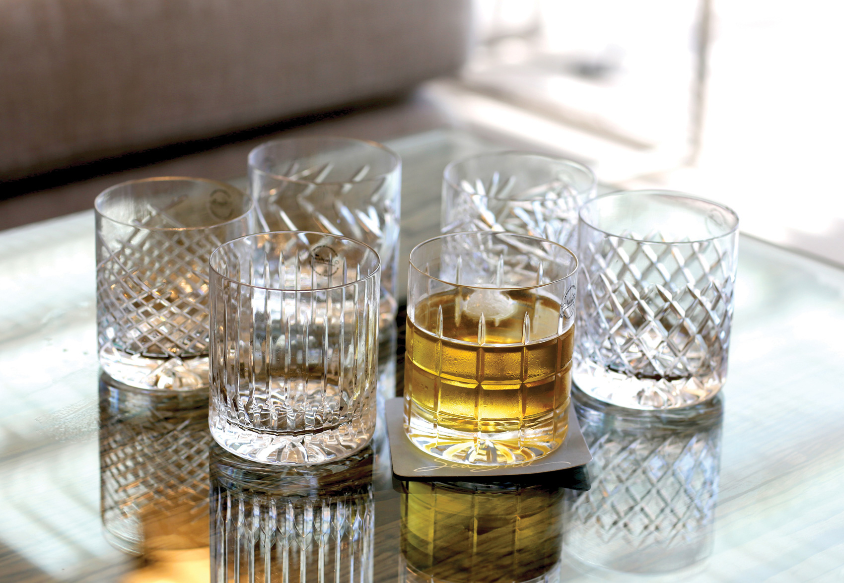 """newport jfk tumbler 5 - Krystallglass - """"whiskey on the rocks"""""""