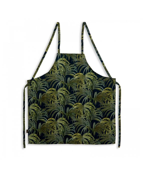 palmeral midnight green cotton apron 570x708 - Forkle - Palmeral