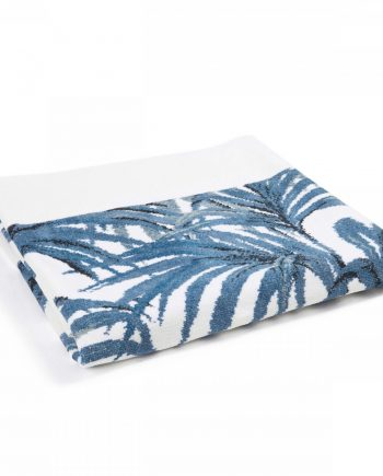 palmeral white azure bath sheet 1 2 2 350x435 - Håndkle - Palmeral, hvit/blå