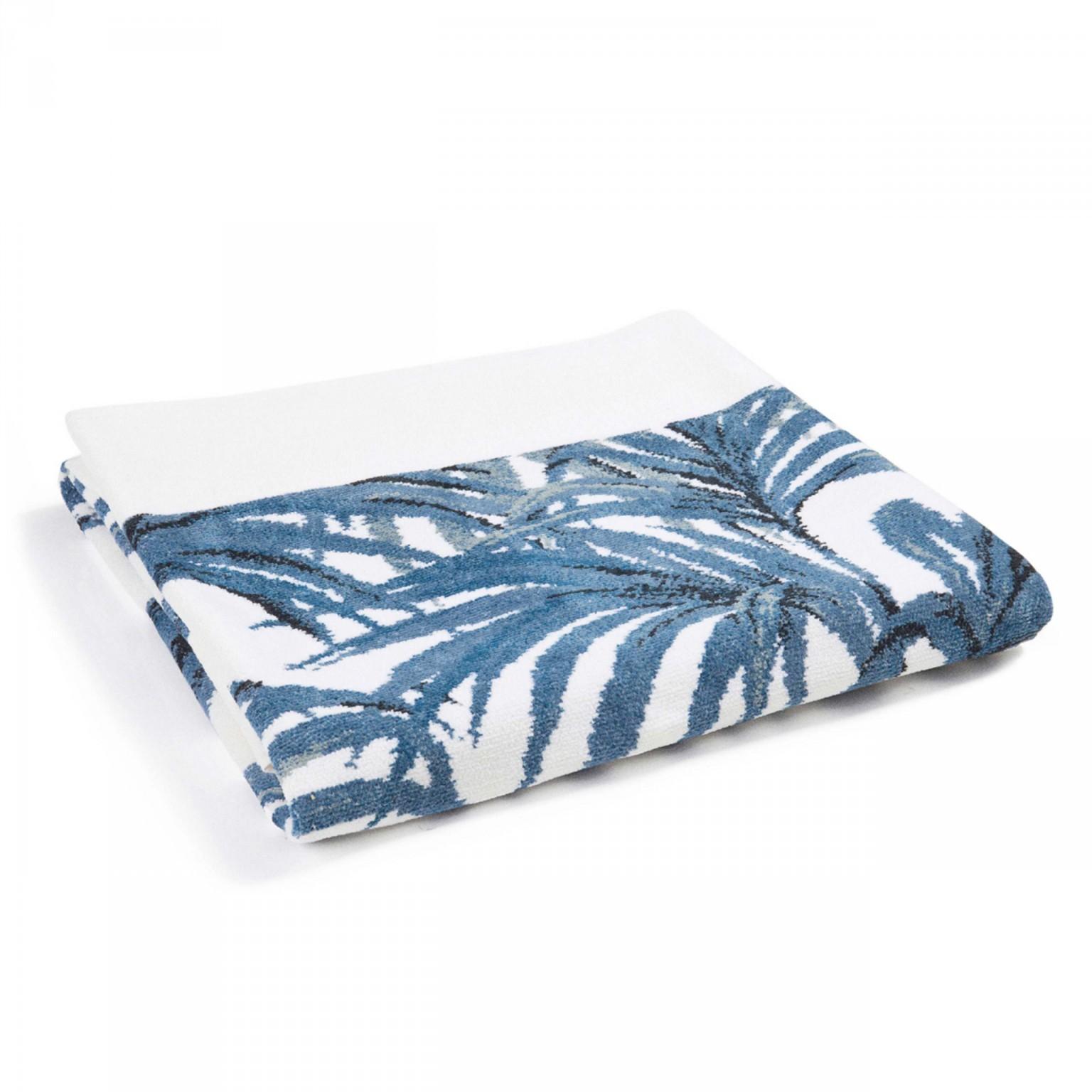 palmeral white azure bath sheet 1 2 2 - Håndkle - Palmeral, hvit/blå