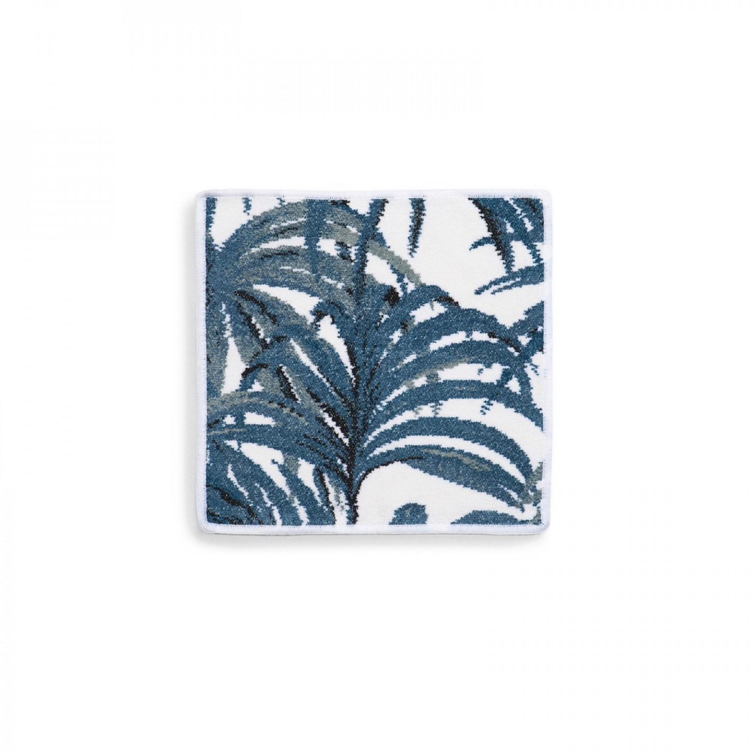 palmeral white azure face cloth 1 - Håndkle - Palmeral, hvit/blå