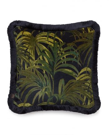 palmeral medium fringe cushion midnight green 350x435 - Pute - Palmeral, fringed, House of Hackney
