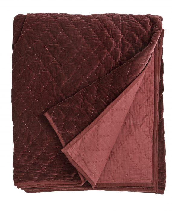 rød 570x708 - Sengeteppe - Burgundy