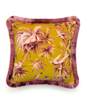 aurora medium fringe cushion chartreuse 2 350x435 - Pute - Aurora, fringed, House of Hackney