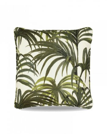 medium cushion white green web 2 350x435 - Pute - Palmeral medium, white/green, House of Hackney