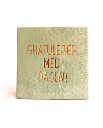 """IMG 1806 350x435 - Servietter - """"Gratulerer med dagen"""""""