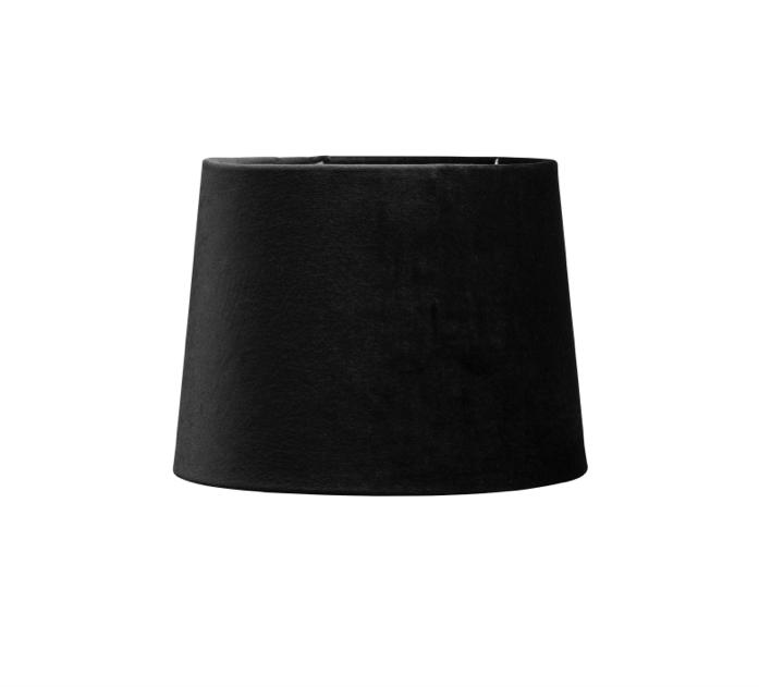 Glimrende Lampeskjerm, velour - Svart - Palma store AF-09