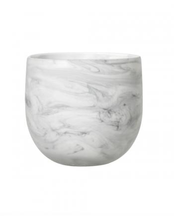 Skjermbilde 2018 03 03 kl. 15.04.33 350x435 - Blomsterpotte - Marmorert glass
