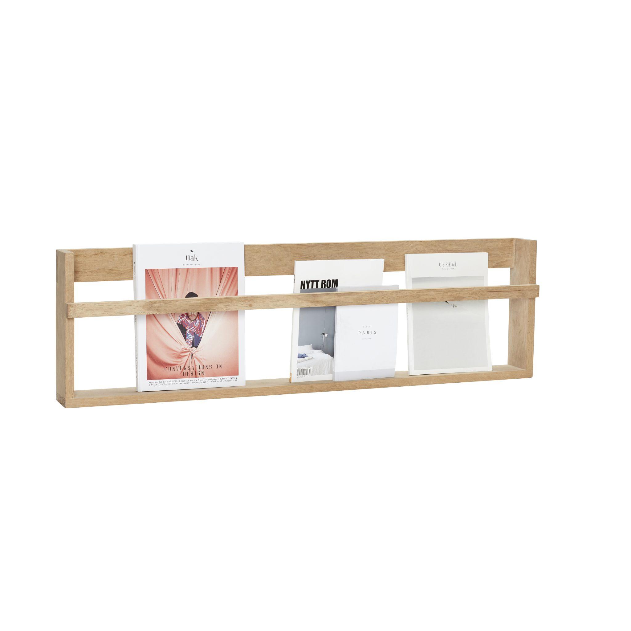Helt nye Vegghylle i eik - Magasinholder - Palma store BQ-81