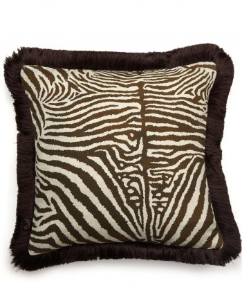 equus medium fringe cushion cocoa 1 350x435 - Pute - Equus, Cocoa, fringed, House of Hackney