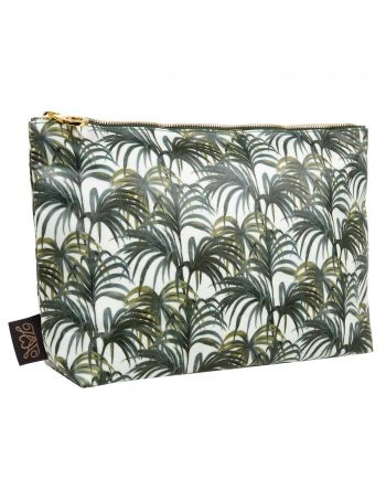 palmeral white green large wash bag 350x435 - Toalettmappe - Palmeral White/Green