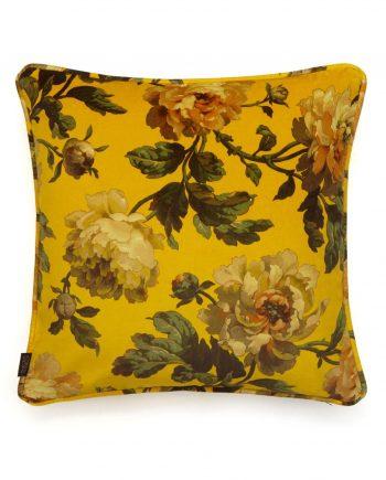 peoneden medium cushion ochre 1 350x435 - Pute - Peoneden, Ochre velvet, House of Hackney