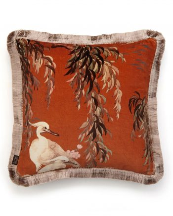 zeus medium fringe cushion tobacco 1 350x435 - Pute - Zeus, Tobacco, fringed, House of Hackney