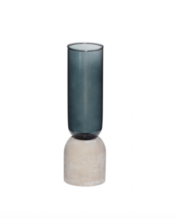 Skjermbilde 2018 05 22 kl. 14.55.50 350x435 - Vase - Betong ogblått glass, small