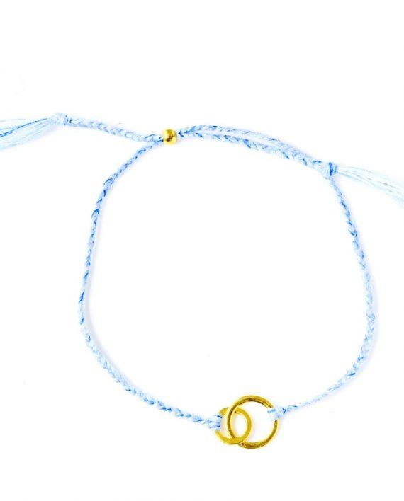 connected blue gold 570x708 - Armbånd - CONNECTED, blå og gull