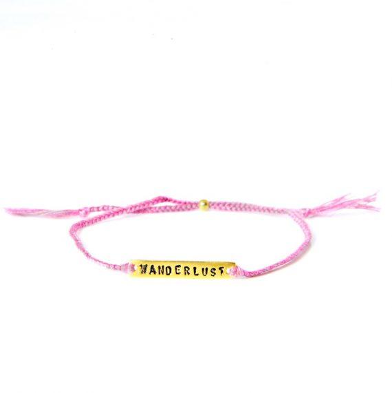 wanderlust pink gold 570x571 - Armbånd - BE!NOTICED, WANDERLUST, rosa og gull