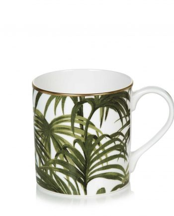 palmeral off white and green mug 350x435 - Kopp - Palmeral white/green, House of Hackney