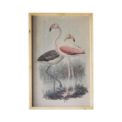 707709 - Bilde med ramme - Flamingo