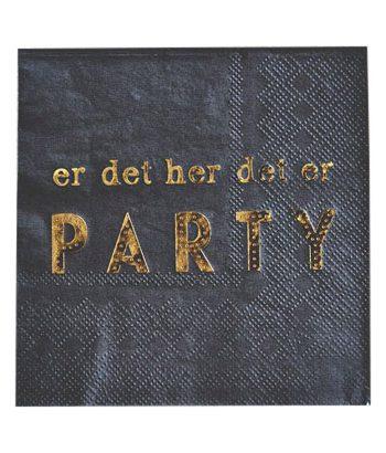 """L66865 350x410 - Servietter - """"er det her det er PARTY"""""""