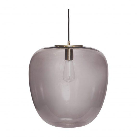 990602 570x570 - Taklampe - Smoked, glass & messing