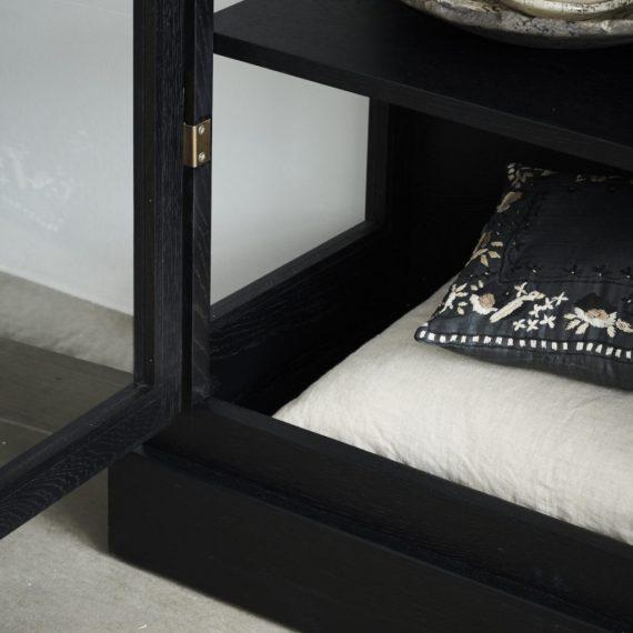 LIndebjerg Design Cabinet N1DarkOak detail1 1024x1024 570x570 - Vitrineskap - Dark oak N2