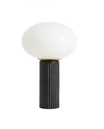 Skjermbilde 2018 09 11 kl. 12.53.49 350x435 - Bordlampe - Opalt glass med sort fot
