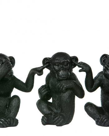100935 350x435 - Ape - Ikke se/Høre/snakke, svart
