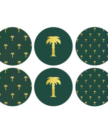 "1556 15 X2 350x435 - Coasters - ""Palm trees"" 6 stk"