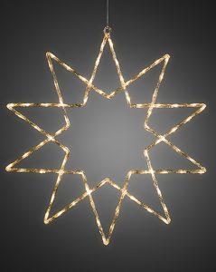 Stjerne – 40 stk varmhvite LED lys