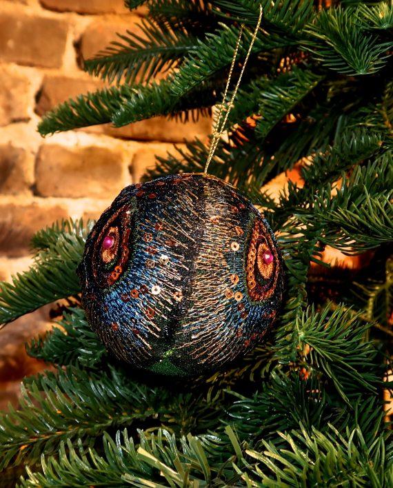 IMG 4115 570x708 - Julekule - Glitter peacock
