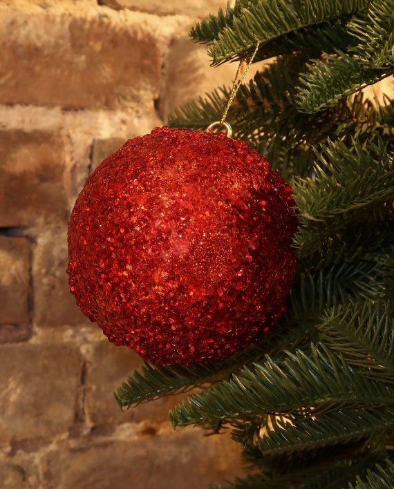 IMG 4336 570x708 - Julekule - Bead sequence ball red