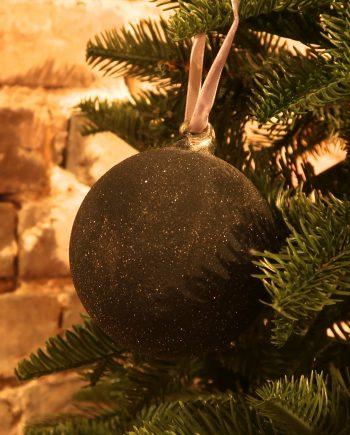IMG 4404 350x435 - Julekule - Glass ball sugared dark blue