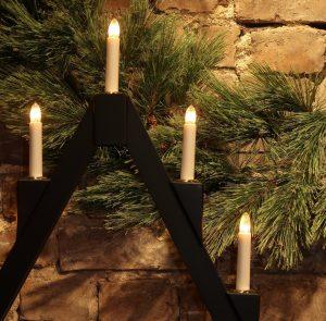 Adventstake – Sort med 7 lys