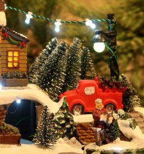 Juleby – Lys med hest og slede