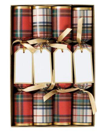 "ck120 10 caspari stewart tartan celebration christmas crackers 8 per box 17275906916487 350x435 - Crackers - ""Stewart tartan"" 8 stk"