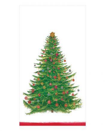 """ng14710 350x435 - Servietter - """"White glittering tree"""" avlang"""
