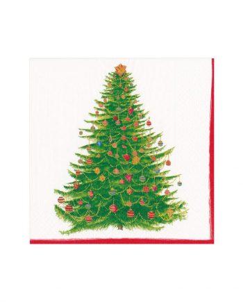 "nl14710c 350x435 - Servietter - ""White glittering tree"""