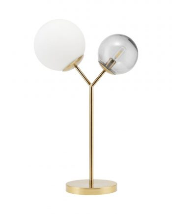 "web1200 white gb0107 01 350x435 - Bordlampe - ""Twice"" Brass finish"