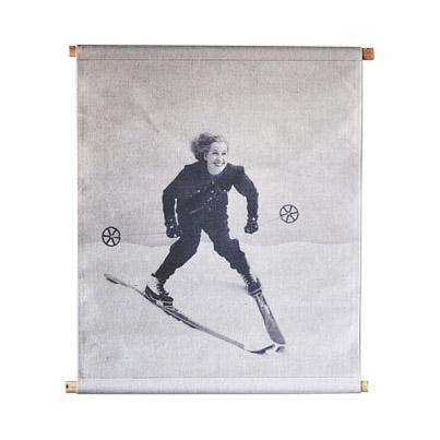 707830 1 - Veggtrykk - Skiløper, dame