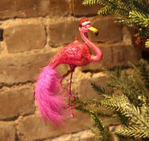 Julepynt – «Flamingo w/ christmas hat»