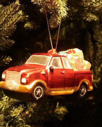"IMG 4863 350x435 - Julepynt - ""Car w/tree and gifts"""