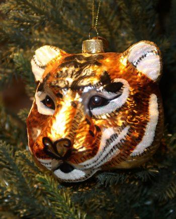 "IMG 4919 350x435 - Julepynt - "" Tiger hode black & gold"""