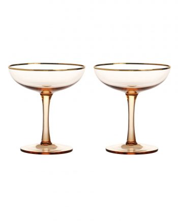 325 01 X3 350x435 - Champagne glass - Pink, set á 2 stk