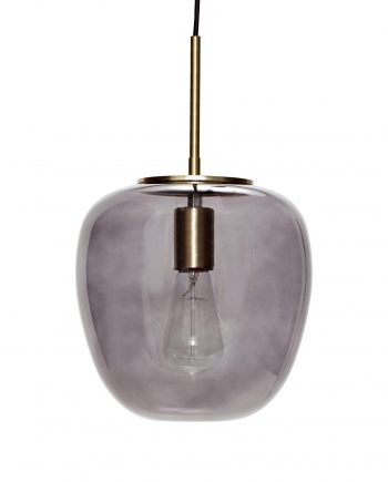990722 350x435 - Taklampe - Smoked, glass & messing, small