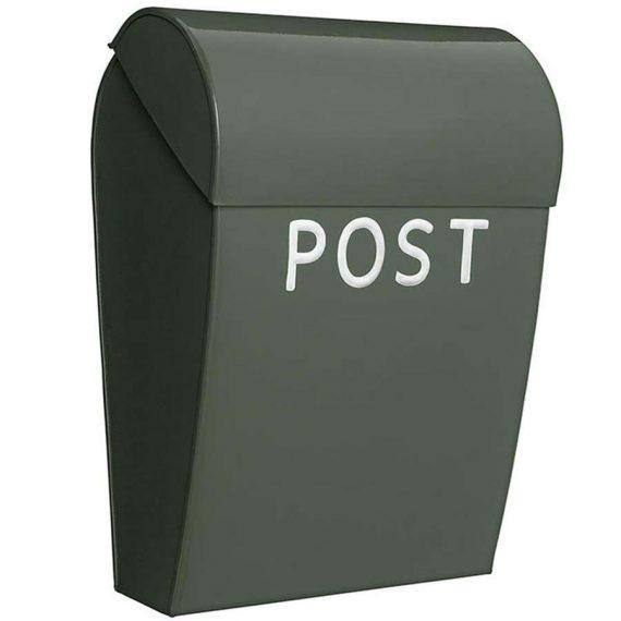 "100660 570x570 - Postkasse ""Post"" - Olivengrønn"