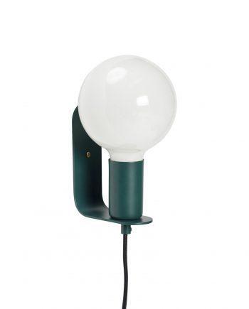 990809 350x435 - Vegglampe - Grønn, ink lyspære