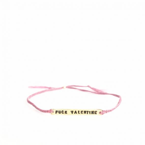 "IMG 1631 2 1024x1024 570x570 - Armbånd - ""Fuck valentine"" dusty pink"
