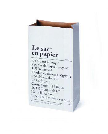 """LE SAC EN PAPIER ®BE POLES 350x435 - Papirpose """" Le sac"""" - 33 L"""